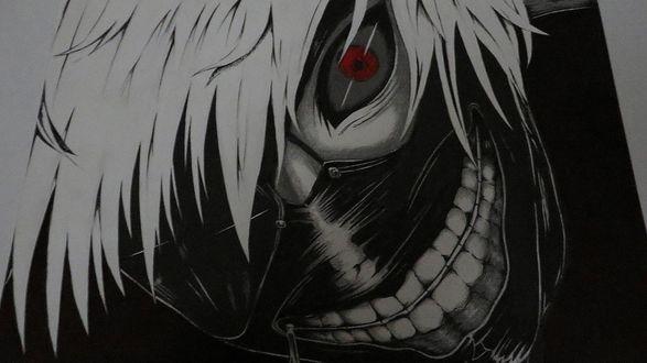 Обои Канеки Кен / Kaneki Ken из аниме Tokyo Ghoul / Токийский Гуль