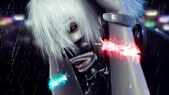 Обои Ken Kaneki / Кен Канеки из аниме Tokyo Ghoul / Токийский Гуль, by yuCide