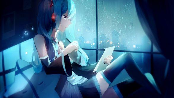 ���� Vocaloid Hatsune Miku / �������� ������ ���� � ���������, � ���������� � ������� � �����, ��������� ����� ����� � ����, �� ���� �� ����� �����, art by lococo
