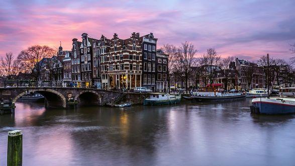 Обои Улица Амстердама, Нидерланды