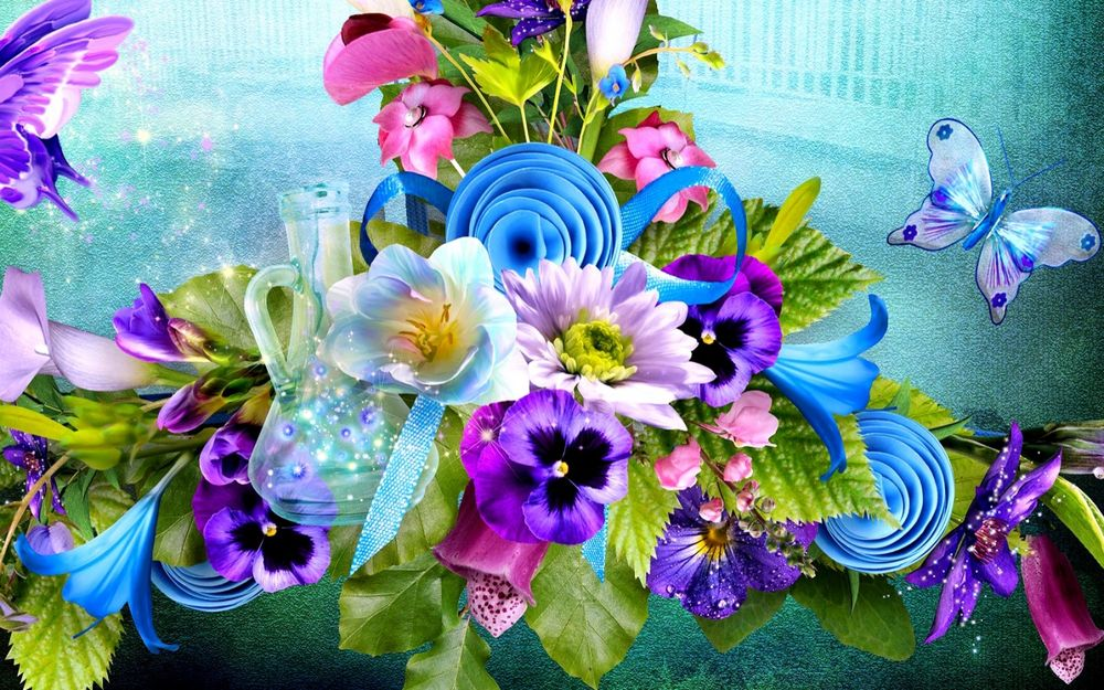 молодых растений, букеты цветов фото сказочные упражнение