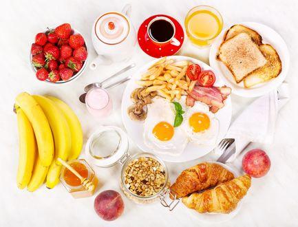 Обои Натюрморт из продуктов для завтрака