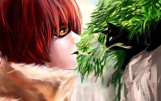 Обои Мэйл Дживас / Mail Jeevas из аниме Тетрадь смерти / Death Note, by Rikamello
