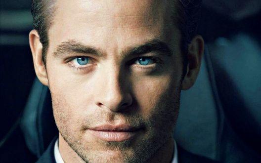 Обои Мужчина с голубыми глазами / актер Крис Пайн