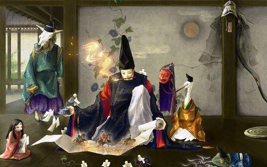 Обои Аниме картинки, волшебные создания, художник-чародей, фэнтези