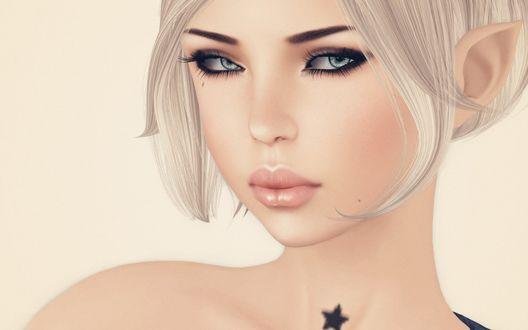 Обои Блондинка с зелеными глазами