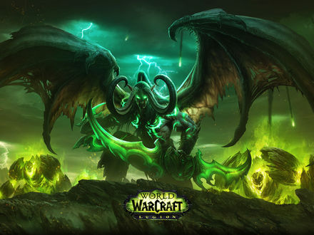 Обои Иллидан Ярость Бури из игры World of Warcraft