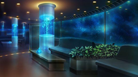 Обои Комната под водой