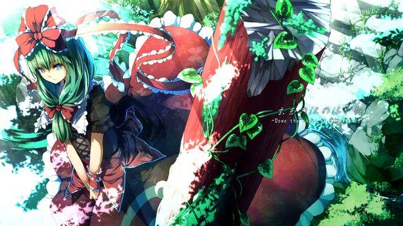 Обои Хина Кагияма / Hina Kagiyama из игры Проект «Восток» / Touhou Project, art by Ibuki Notsu