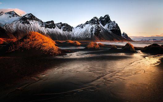 Обои Гора Вестрахорн, Исландия