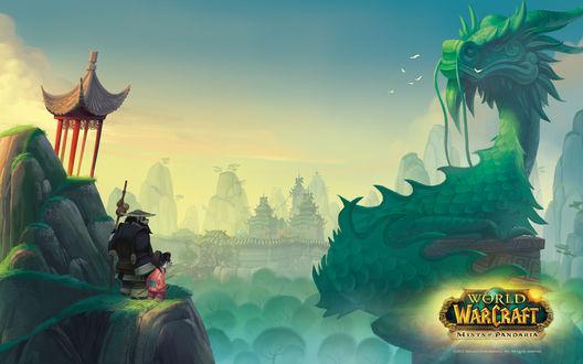 Обои Путевые записки Ли Ли - Нефритовый лес / арт на игру World of Wacraft