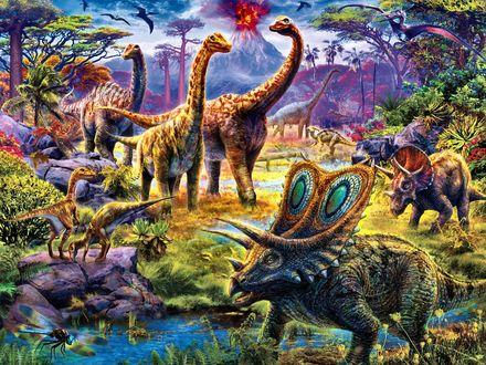 Обои Динозавры и другие доисторические животные, Art of Jan Patrik Krasny