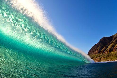 Обои Прибой - потрясающие волны на северном побережье Оаху, Гавайи by Кларк Литтл (Clark Littl)