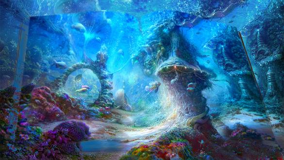Обои Книга природы. Сказка подводного царства, by Cornacchia