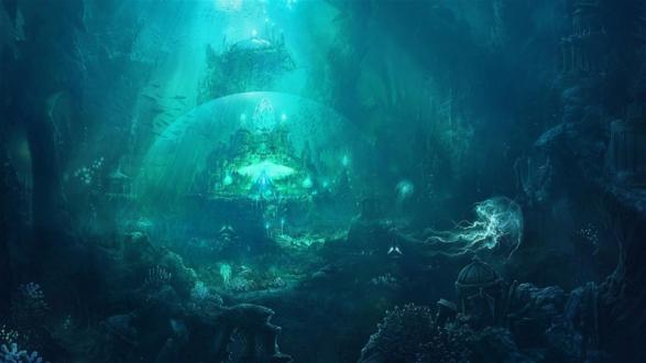 Обои Потрясающий подводный, фантастический мир