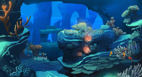 Обои Спокойствие в подводном мире