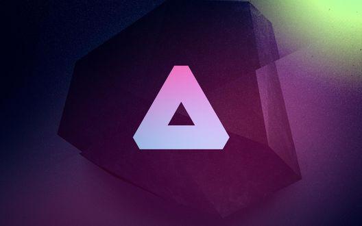 Обои Абстрактная треугольная фигура