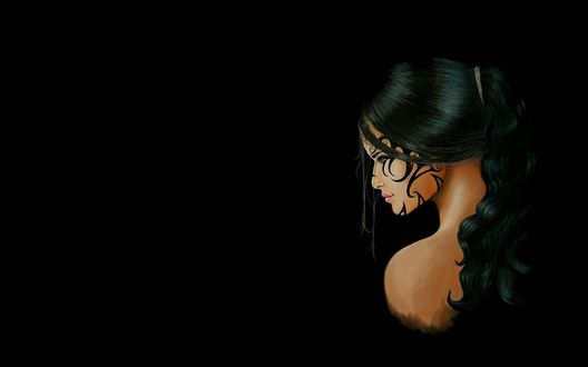 Обои Дженни Романо / Jenny Romano, любимая девушка Джеки Эстакадо / Jackie Estacado, главного героя видеоигры The Darkness (Игра), с тату на лице