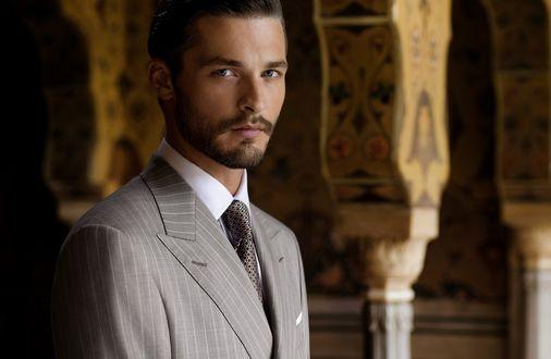 Обои Парень-модель Ben Hill / Бэн Хилл в костюме