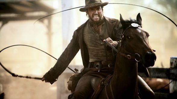 Обои Ковбой на лошади, Hugh Jackman / Хью Джекман, к / ф Австралия