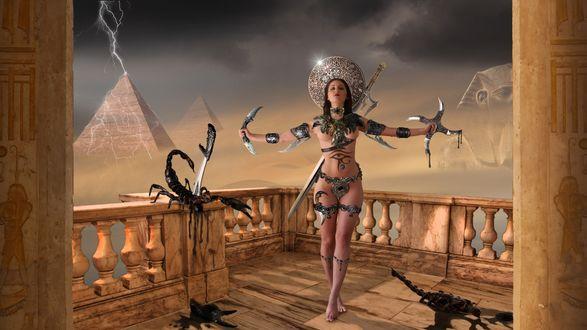 картинки голых красивых египетских девушек
