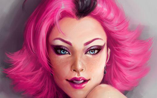 девушка с розовыми-мш1