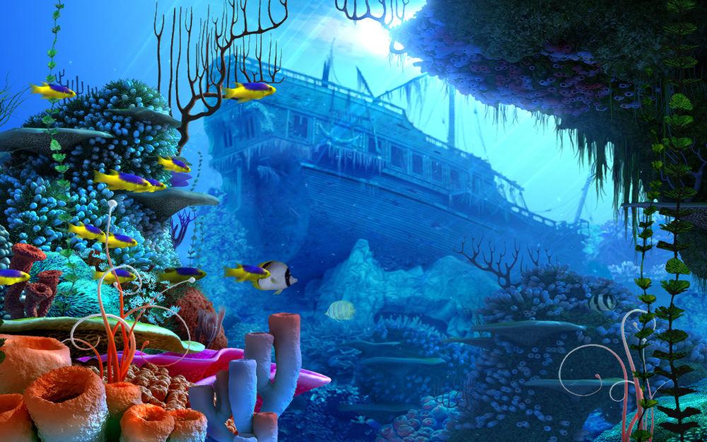 Картинки подводный мир на рабочий стол, отоларинголог