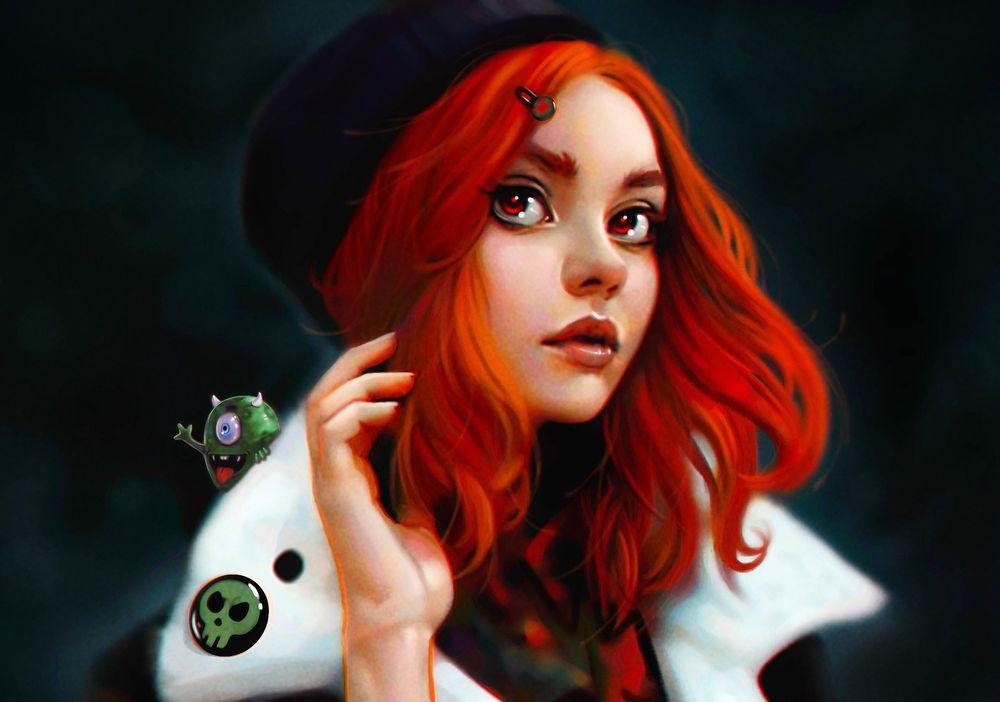 Девушки с яркими рыжими волосами фото фото 385-855