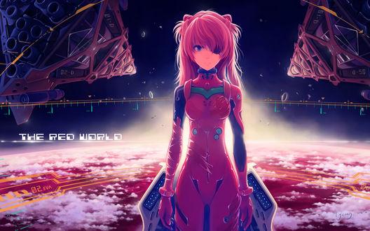Обои Сорью Аска Лэнгли / Asuka Langley Souryu из аниме Евангелион нового поколения / Neon Genesis Evangelion (THE RED WORLD)