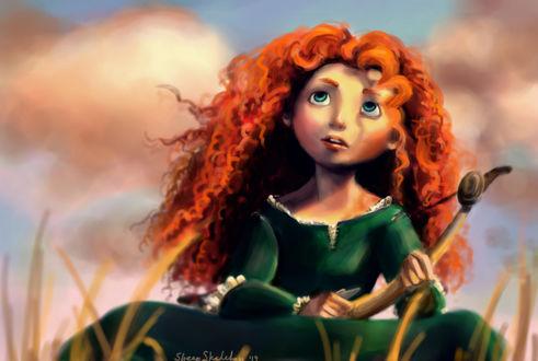 Обои Принцесса Мерида / Merida из мультфильма Храбрая сердцем / Brave, by sheepSkeleton