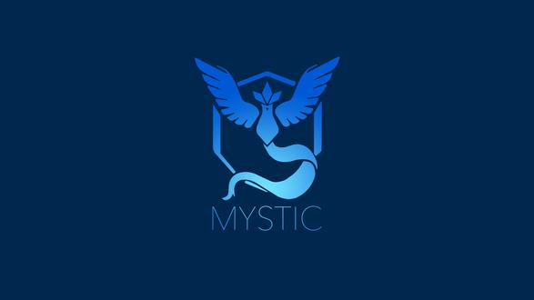 Обои Символ синей команды из игры Pokemon GO (MYSTIC)