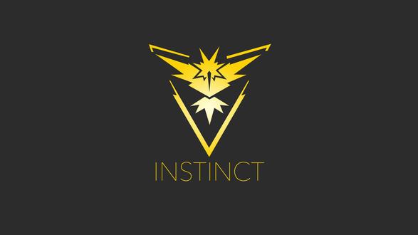 Обои Символ желтой команды из игры Pokemon GO (INSTINCT)