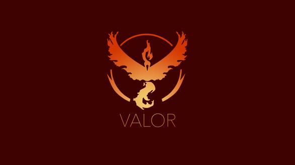 Обои Символ красной команды из игры Pokemon GO (VALOR)