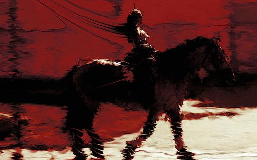 Обои Война, всадник апокалипсиса на коне, жара, арт