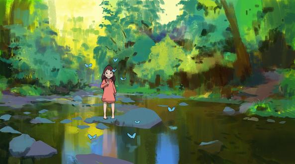 Обои Yuki / Юки из аниме Волчьи дети Амэ и Юки / Okami Kodomo no Ame to Yuki / The Wolf Children Ame and Yuki, by snatti