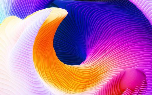 Обои Абстрактная разноцветная спираль