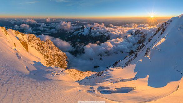 Обои На закате у вершины Монблан-де-Курмайор, фотограф Иван Росляков