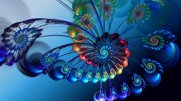 Обои Абстрактные разноцветные узоры