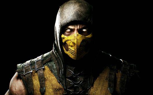 Обои Популярный персонаж серии игр Mortal Kombat Скорпион / Scorpion