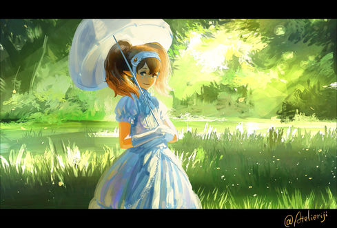 Обои Agitha / Агифа из игры Zelda no Densetsu / Twilight Princess, art by Atelieriji