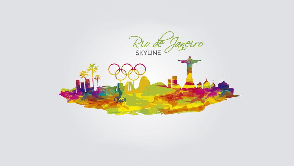 Обои для рабочего стола Логотип Олимпийских игр в Рио-де-Жанейро / Rio de Janero /, Бразилия