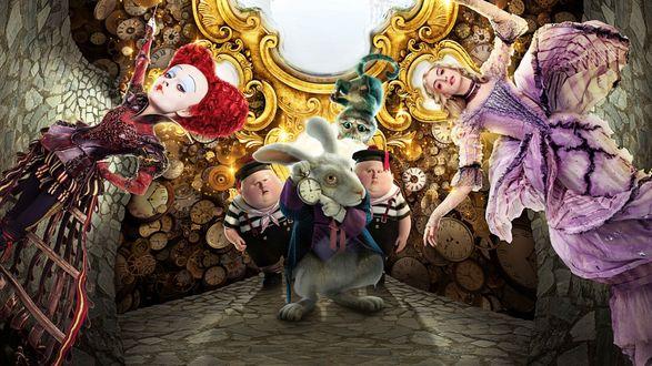 Обои Алиса в Зазеркалье постер к фильму