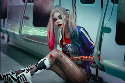 Обои Косплей Harley Quinn / Харли Квинн