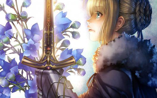 Обои Сейбер / Saber из аниме Судьба: Начало / Fate / Zero