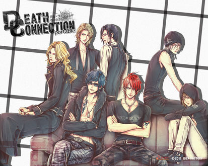 Обои Парни из аниме Death connection, art by Takeshi Kiriya