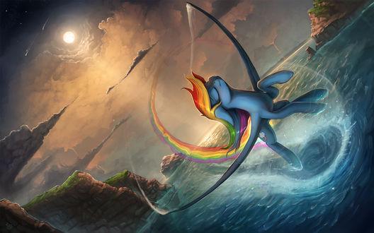 Обои Радуга Дэш / Rainbow Dash из мультсериала Мой маленький пони: Дружба – это чудо / My Little Pony: Friendship is Magic / MLP:FiM, by Rain-Gear