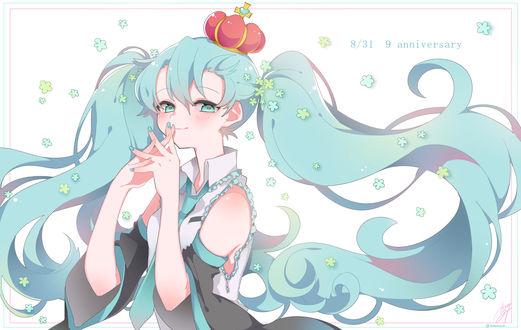 Обои Vocaloid Hatsune Miki / Вокалоид Хатсуне Мику, art by Pixiv Id 5292465