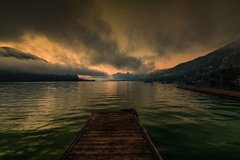 Обои Ранее утро на озере, фотограф Simon Krieg