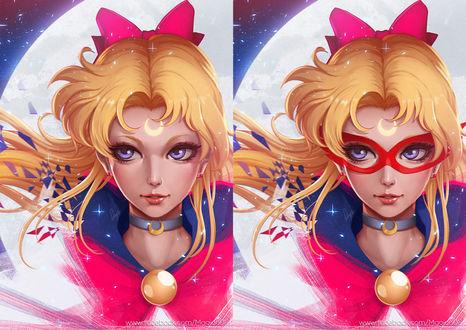 Обои Aino Minako / Айно Минако / Sailor V из аниме Codename: Sailor V / Кодовое имя - Сейлор Ви, Bishoujo Senshi Sailor Moon / Красавица-воин Сейлор Мун, art by Magion02