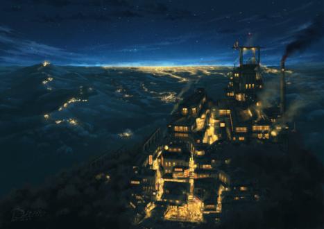 Обои Ночной город в огнях